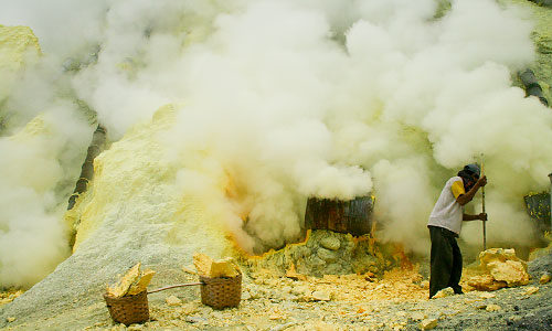 К вулкану Иджен